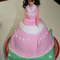 Doll Cake mmm, I hope that some day I can look at this picture and laugh at my not so smooth mmf. Thanks to suzannetherlands whose doll pan I kindly...
