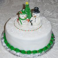 Christmas Cake For New Parents  I made this cake for my son and daughter in law. They have a new baby and I thought this would be appropriate for them. I was inspired by...