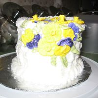 Wilton Class Ii Cake white cake strawberry filling...all bc flowers a class mates work