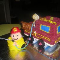 Fire Truck With Firefighter