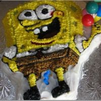 Spongebob Cake   I made this cake for my son's 6th birthday.
