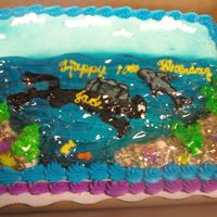 Scuba Diver Under Water piped detail and added clear piping gel to give an under water look