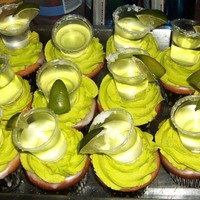 Margarita Cupcakes My version of a margarita cupcake I saw in an e-mail newsletter. So super yummy! Margarita and lime zest in white cake, margarita glaze,...