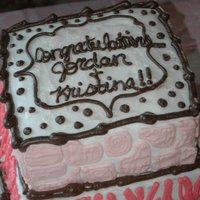 Baby Shower Cake This cake was for a guy that I grew up with and his wife! This is their first child!