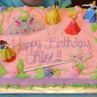 Disney Princess Cake I made this cake for my friend's daughter's birthday party. She wanted it with a princess theme. It is 1/2 French Vanilla & 1...