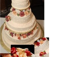 My Wedding Cake I made this cake for my November '08 wedding. I designed it in 3 easy to set up sections, to save time on the big day. The flowers...