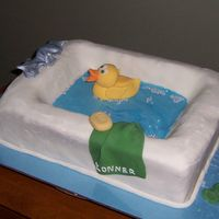 Rubber Ducky In The Bath My sister-in-law, and new mommy, requested a ducky cake for her baby shower. I decided to be creative and put the ducky in the bathtub. The...