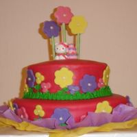 My First Birthday iT¨´S A VERY COLORED HELLO KITTY CAKE, MADE FOR A LITTLE GIRL ON HER´S FIRST BIRTHDAY