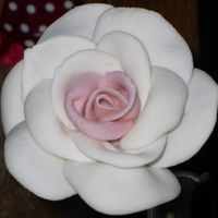 Gumpaste Rose This is about my fourth try or so. Please let me know what you think I'ld like to be able to improve.