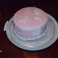 Royal Butterflies And Roses, Fondant Cake This is my First Fondant Cake. I finally tried it lol. It was a lot easier than I thought it would be. It's MMF The Butterflies and...
