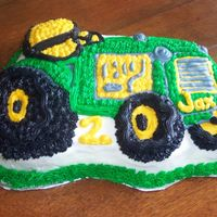 John Deer Tractor Cake This was my first try at a cake like this. It was for my son's 2nd birthday party.