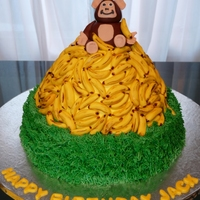 Going Bananas... This cake was for my son's first birthday. He LOVES bananas and he's a little monkey so that was the inspiration. There are about...