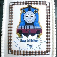 "Thomas Train Edible Image I ""stole"" this idea from someone on here but I can't remember who to give credit to - sorry about that. Edible image with..."