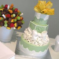 Bridal Shower Designed and made for my sister's bridal shower; I love having complete creative reign to try something different, so I did ruffles...