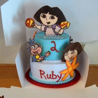 Dora Birthday Cake for Two-Year old