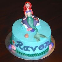 Ariel Ariel is looking a little more 'drag-queenish' than I had hoped, but I'm still happy with how the cake turned out! Gumpaste...