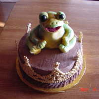 You Kiss A Lot Of Frogs Sometimes Cake made for a friend whose nickname for her son is The Prince