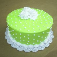 Neon Green Cake This cake is all buttercream!