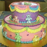 Teddy Bear Cake Teddy bears are made out of fondant with a sculpy mold!