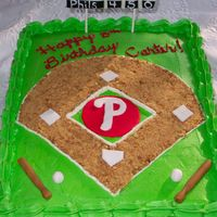 Phillies This cake actually went to the Phillies Stadium for a birthday party. The child's father is Director of PR for the Phillies. How...