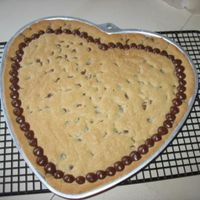 Valentine Cookie For My Honey Since my sweetie doesn't care too much for sweets, I decided to make his favorite cookie- extra large. In lieu, of icing to decorate-...