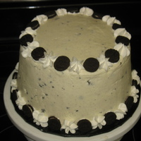 Cookies And Cream Cake Used a choc WASC with cookies and cream pudding added to Bettercream for the filling. Also added the pudding mix to the icing. Accented...