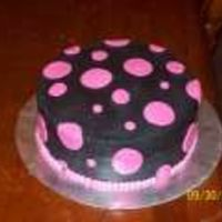 Birthday--14-Year-Old Girl Fondant polka dots