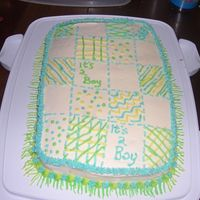 Baby Shower Quilt This is just a quick cake I whipped up for a friends baby shower! It was last minute!! thanks for all those who have done these for the...