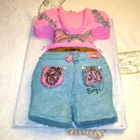 Coogi Jeans/shirt Chocolate cake for my 19 year old neice's birthday
