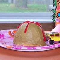 Little Volcano   Mini volcano I made for my only nephew. I made the girls hula girls.