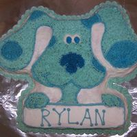 Blue's Clues Cake   I did this for my nephew's 2nd birthday. You should have seen him stick his hand right in :)