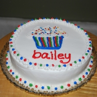 Cupcake Smash Cake This is a 6 inch round smash cake. Cupcake is free handed.
