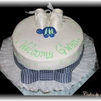 Baby Shower This is a baby shower cake I did for my step sister. She is decorating her nursery in a turtle pattern so I made this cake to match. Cake...