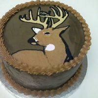 Deer Cake 8 inch chocolate fudge cake with chocolate carmel coffee creamer and chocolate icing. Cake was for a co-worker's husband who is very...