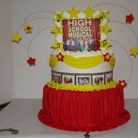 High School Musical High School Musical cake for a five year old girl.