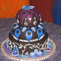 Arabian Nights Cake My daughter was being a Genie for halloween so we thought for her birthday we would continue the theme this is what I came up with.
