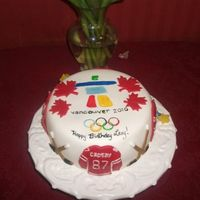 Olympic Cake This was for a friends b-day she is a huge Crosby fan and we were watching one of the Olympic games.