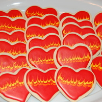 Burning Hearts I made these cookies for my son's class,and my sisters for valentine's day. Iced with antonia's royal icing. Idea for cookie...