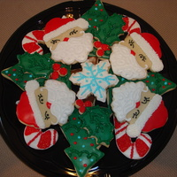 Platter Of Cookies I made numerous groupings of sugar cookies this year. In fact made waaaay more than i needed. I got a little carried away with the sanding...