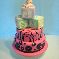 Hot Pink & Black Baby Shower Cake Design was not really what I had in mind it was a specific request by mother-to be.