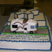 Rv Cake For Pastor Retirement This was a full sheet with the motor home made from parts of cake cutout from my cross cake. I was pretty happy with the outcome. The...