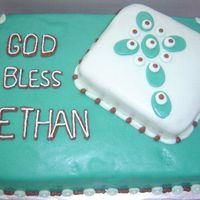 Ethan's First Communion First fondant attempt. I used the MMF recipe from here. It is plain cake with the Double Chocolate buttercream recipe. Everyone loved how...