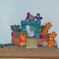 Noah's Ark 3D Cake - Different View Noah's Ark 3D Cake Everything in this picture is edible except the animals. I was trying to make my own animals but I just didn't...