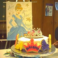 Daisha's 4Th Birthday I had to make this cake the same day I made my sisters 40th Birthday The crown had bilinking lights. Lemon cake with cream cheese frosting...