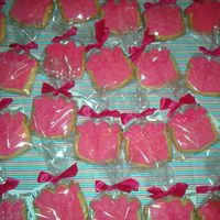 "Gift These cookies were made for a woman's retreat the theme is ""Gifts""."