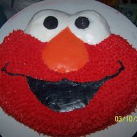 Elmo!   Just an Elmo cake. Nothing exciting here.