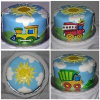 Around Town Cake Fondant cake with edible image applique