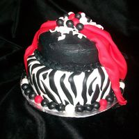 Zebra Birthday   This cake was for a girl who wanted zebra type cake but wanted to change it up a bit.
