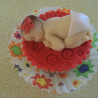 Babycupcake   Marzian baby on top of a cupcake