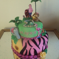 Mayra's 1St Birthday   Jungle themed cake